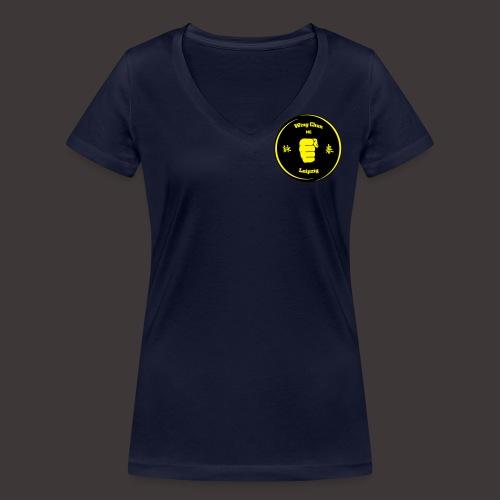 Logo Kampfkunstschule Leipzig - Frauen Bio-T-Shirt mit V-Ausschnitt von Stanley & Stella