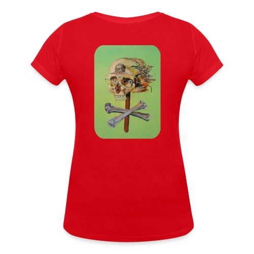 oil painting of skull and bones - Vrouwen bio T-shirt met V-hals van Stanley & Stella