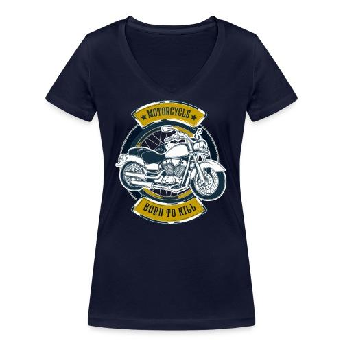 Motorcycle5 - Camiseta ecológica mujer con cuello de pico de Stanley & Stella