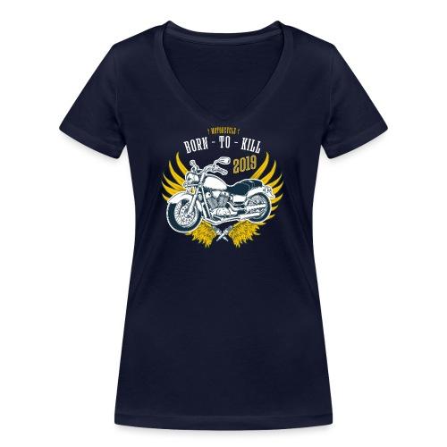 Motorcycle4 - Camiseta ecológica mujer con cuello de pico de Stanley & Stella