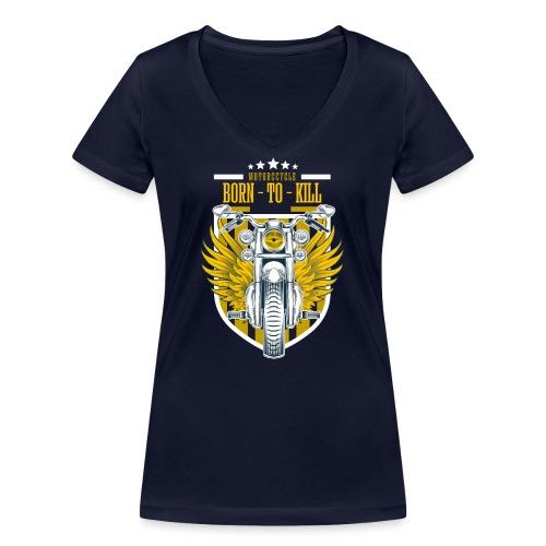 Motorcycle3 - Camiseta ecológica mujer con cuello de pico de Stanley & Stella