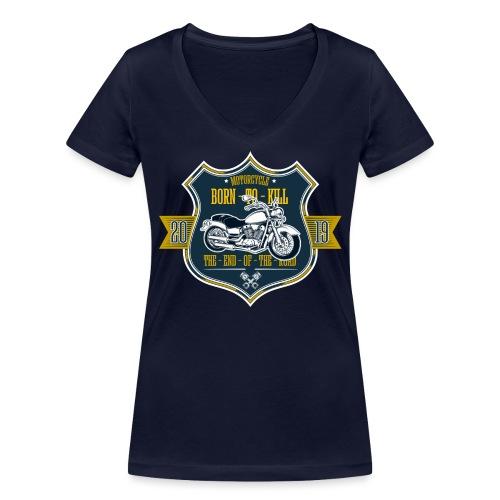 Motorcycle2 - Camiseta ecológica mujer con cuello de pico de Stanley & Stella