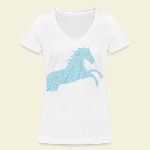Cheval feuille - T-shirt bio col V Stanley & Stella Femme