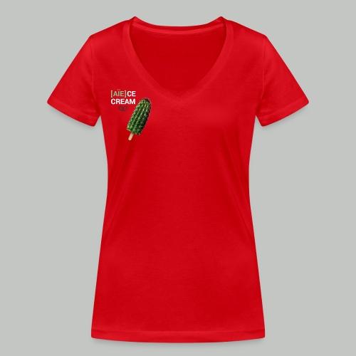 [aie]ce cream - T-shirt bio col V Stanley & Stella Femme