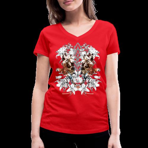 tropici - T-shirt ecologica da donna con scollo a V di Stanley & Stella