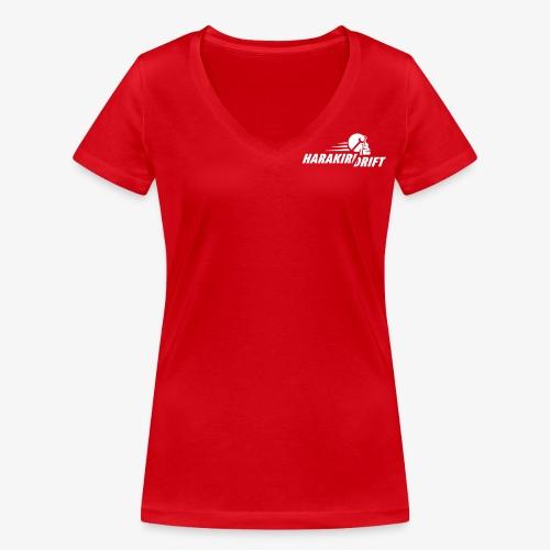 Harakiri Drift Logo Weiss - Frauen Bio-T-Shirt mit V-Ausschnitt von Stanley & Stella