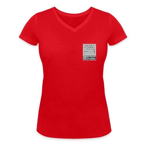 Pocket Logo - Women's Organic V-Neck T-Shirt by Stanley & Stella
