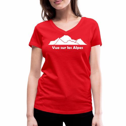 Vue sur les Alpes - T-shirt bio col V Stanley & Stella Femme