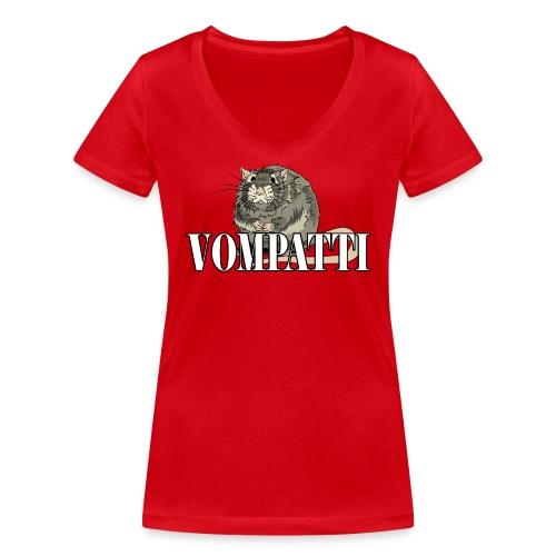 Vompatti - Stanley & Stellan naisten v-aukkoinen luomu-T-paita