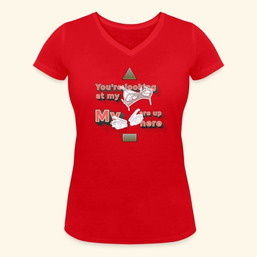Boob's & Eyes - Frauen Bio-T-Shirt mit V-Ausschnitt von Stanley & Stella
