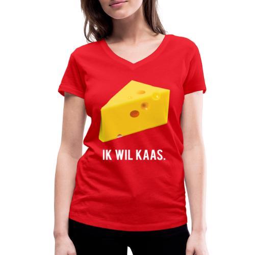 Ik wil kaas - Vrouwen bio T-shirt met V-hals van Stanley & Stella