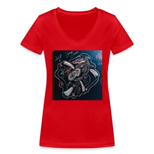 CD9 CARTEL - Camiseta ecológica mujer con cuello de pico de Stanley & Stella