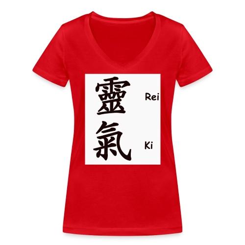 Reiki - T-shirt bio col V Stanley & Stella Femme