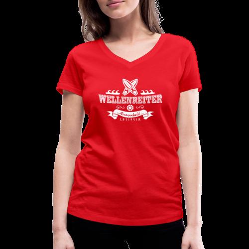 Geweihbaer Wellenreiter - Frauen Bio-T-Shirt mit V-Ausschnitt von Stanley & Stella