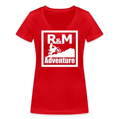 R M Adventure - Frauen Bio-T-Shirt mit V-Ausschnitt von Stanley & Stella