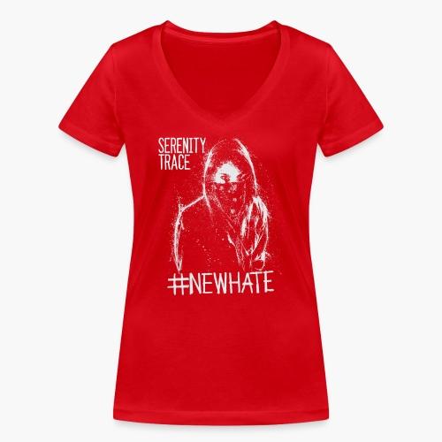#NewHate Female - Økologisk T-skjorte med V-hals for kvinner fra Stanley & Stella