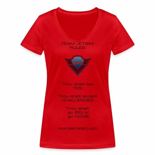 TJS RULES - Women's Organic V-Neck T-Shirt by Stanley & Stella