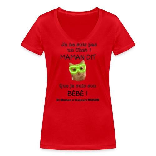 O'Malley le Bébé ! - T-shirt bio col V Stanley & Stella Femme