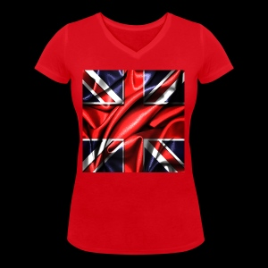 Union Jack design - Women's Organic V-Neck T-Shirt by Stanley & Stella