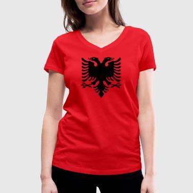albania shirt albanischer Adler geschenkidee - Frauen Bio-T-Shirt mit V-Ausschnitt von Stanley & Stella