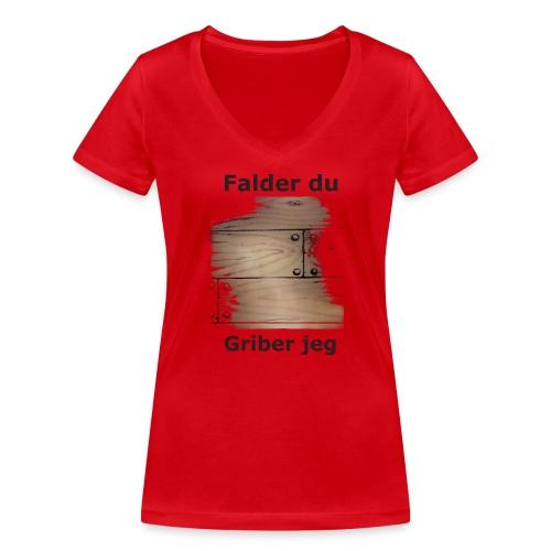 Gulvet Griber - Økologisk Stanley & Stella T-shirt med V-udskæring til damer