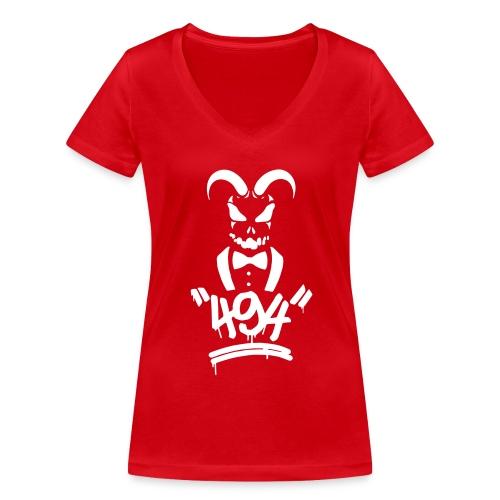 494 black - Frauen Bio-T-Shirt mit V-Ausschnitt von Stanley & Stella