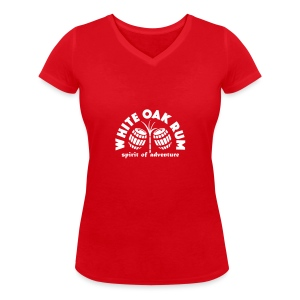 White Oak Rum - Women's Organic V-Neck T-Shirt by Stanley & Stella