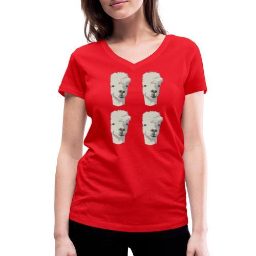 4Alpaka - Frauen Bio-T-Shirt mit V-Ausschnitt von Stanley & Stella
