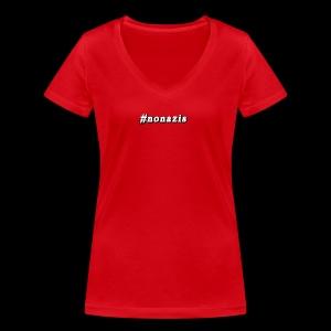 #nonazis - Frauen Bio-T-Shirt mit V-Ausschnitt von Stanley & Stella
