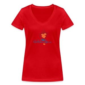vtw Glücksbringerin - Frauen Bio-T-Shirt mit V-Ausschnitt von Stanley & Stella