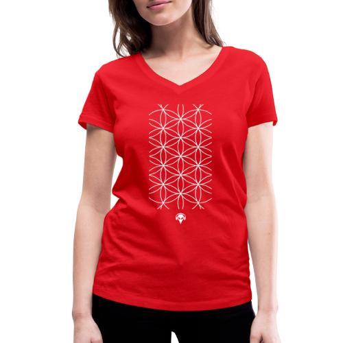 Muster Alien - Frauen Bio-T-Shirt mit V-Ausschnitt von Stanley & Stella