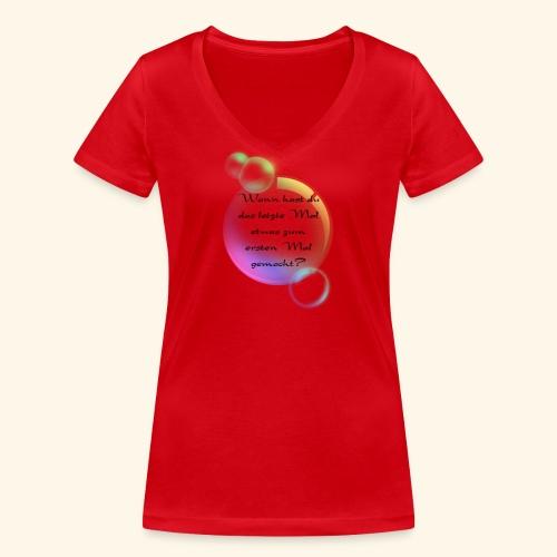 Seifenblasen - Frauen Bio-T-Shirt mit V-Ausschnitt von Stanley & Stella