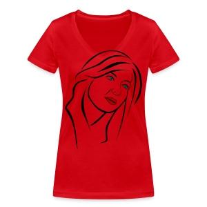 Femme - T-shirt bio col V Stanley & Stella Femme