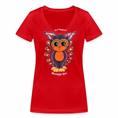 Moonokis inc. As it Happens III knows - Women's Organic V-Neck T-Shirt by Stanley & Stella