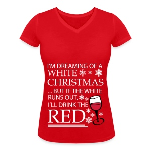 White Christmas - Women's Organic V-Neck T-Shirt by Stanley & Stella