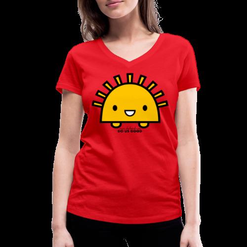 SUNNY - Stanley & Stellan naisten v-aukkoinen luomu-T-paita