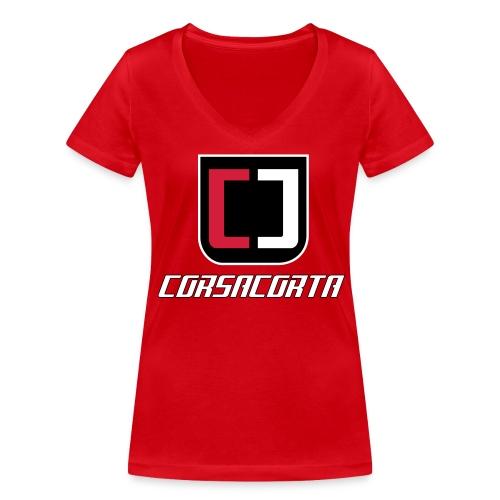 Premium - Corsacorta - T-shirt ecologica da donna con scollo a V di Stanley & Stella
