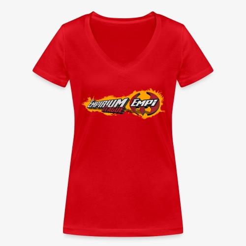 Logo EMPi fond jaune - T-shirt bio col V Stanley & Stella Femme