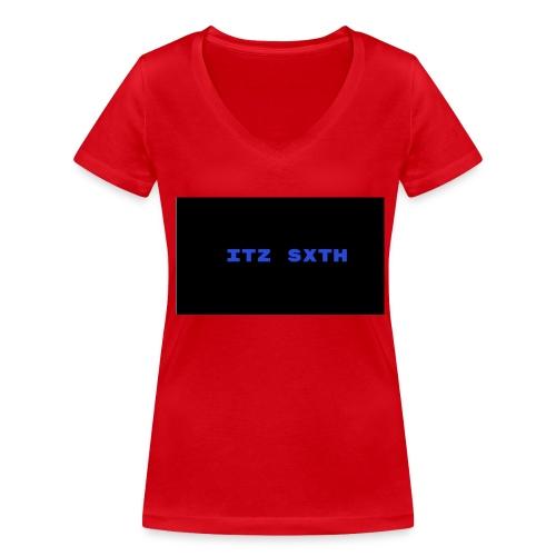 Itz Sxth Navy Clothing - Women's Organic V-Neck T-Shirt by Stanley & Stella