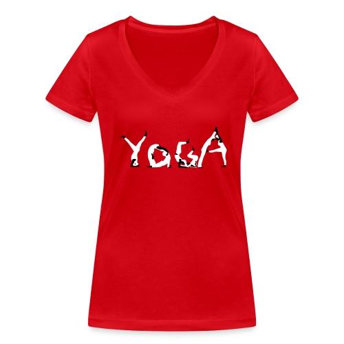 Yoga white - Frauen Bio-T-Shirt mit V-Ausschnitt von Stanley & Stella
