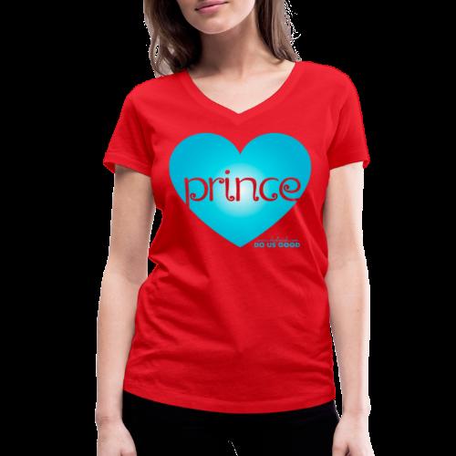PRINCE - Stanley & Stellan naisten v-aukkoinen luomu-T-paita