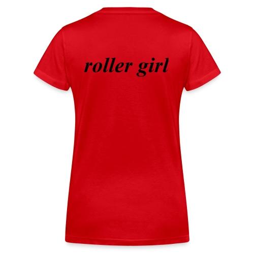 roller girl ♥ - Ekologisk T-shirt med V-ringning dam från Stanley & Stella