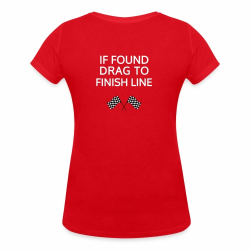 If found, drag to finish line - hardloopshirt - Vrouwen bio T-shirt met V-hals van Stanley & Stella