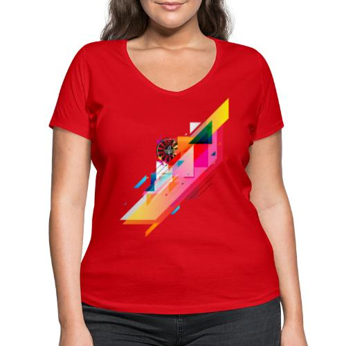 round table stripes - Frauen Bio-T-Shirt mit V-Ausschnitt von Stanley & Stella