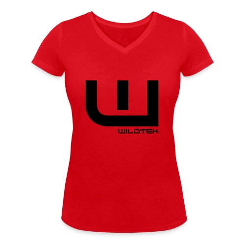Wildtek Logo Black - Women's Organic V-Neck T-Shirt by Stanley & Stella