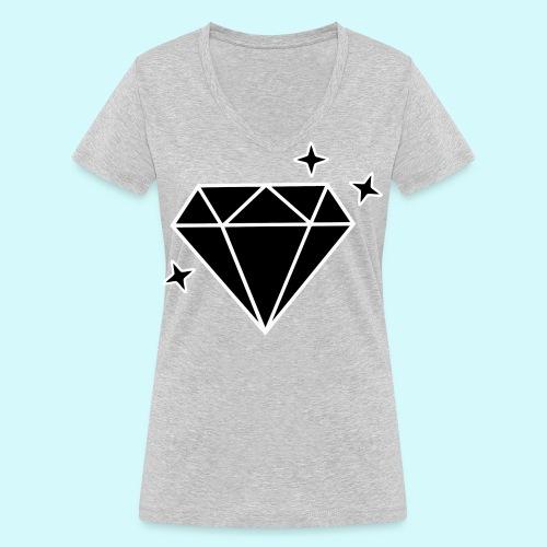 Diamant 2 - Frauen Bio-T-Shirt mit V-Ausschnitt von Stanley & Stella