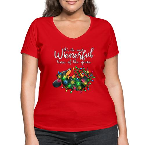 The Most Wienerful Time - Stanley & Stellan naisten v-aukkoinen luomu-T-paita