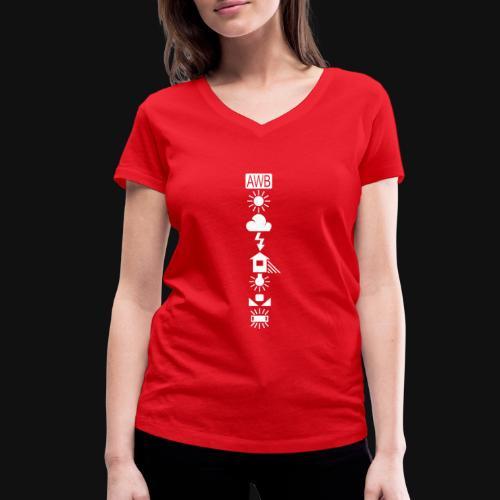 Weissabgleich Symbole Vertikal - Frauen Bio-T-Shirt mit V-Ausschnitt von Stanley & Stella