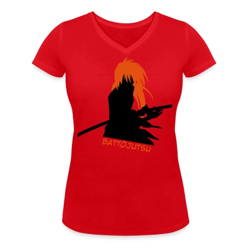kenshinsilhouette - Women's Organic V-Neck T-Shirt by Stanley & Stella