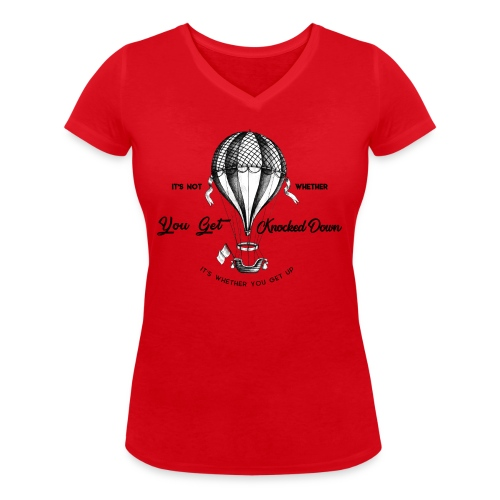 balon - Ekologiczna koszulka damska z dekoltem w serek Stanley & Stella